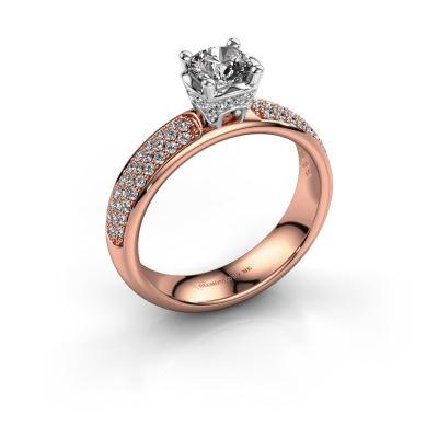 Aanzoeksring Ecrin 585 rosé goud diamant 0.989 crt