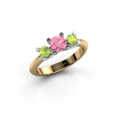 Ring Mirthe 585 Gold Pink Saphir 5 mm