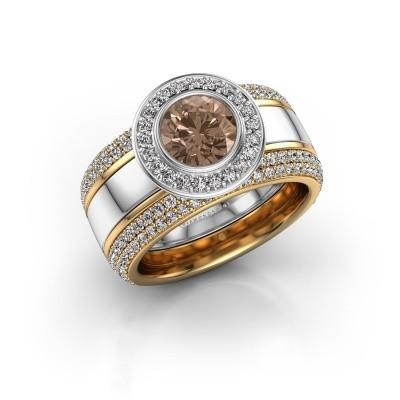 Foto van Ring Roxie 585 witgoud bruine diamant 2.06 crt