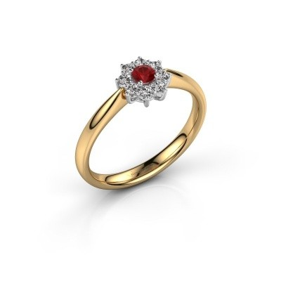 Picture of Engagement ring Carolyn 1 585 gold ruby 3 mm
