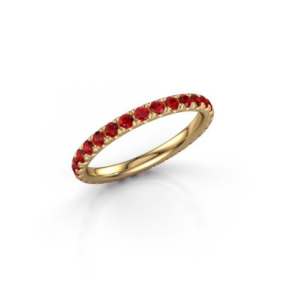 Picture of Stackable ring Jackie 2.0 375 gold ruby 2 mm