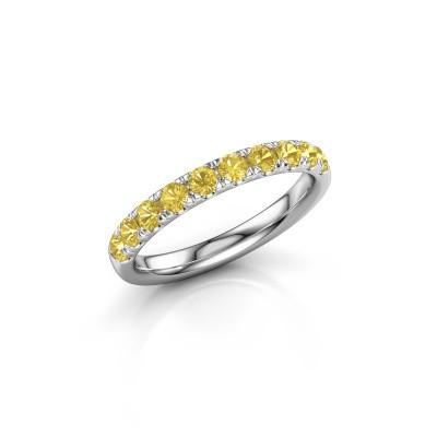 Vorsteckring Jackie Half 585 Weißgold Gelb Saphir 2.4 mm