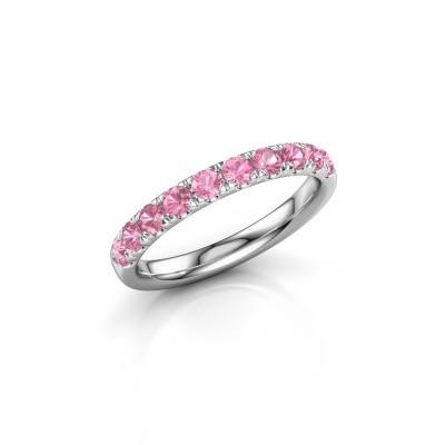Vorsteckring Jackie Half 950 Platin Pink Saphir 2.4 mm