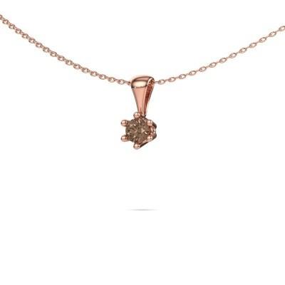 Foto van Ketting Fay 375 rosé goud bruine diamant 0.25 crt