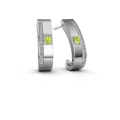 Picture of Earrings Vick1 925 silver peridot 2.4 mm