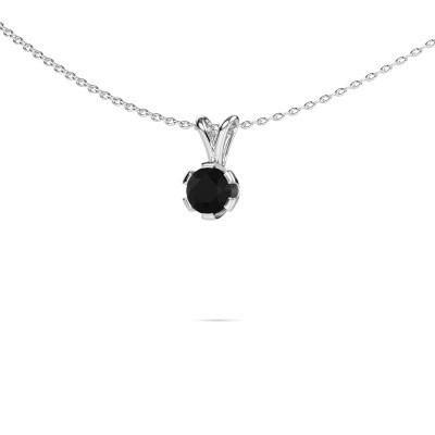 Foto van Ketting Julia 950 platina zwarte diamant 0.60 crt