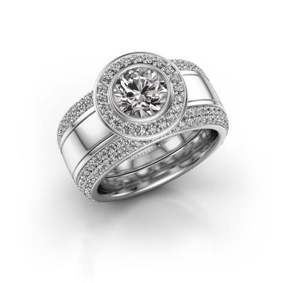 Foto van Ring Roxie 950 platina diamant 2.06 crt