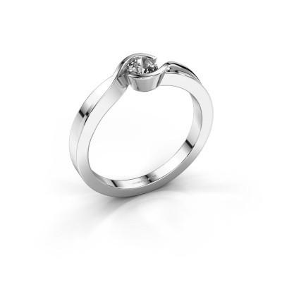 Foto van Ring Lola 925 zilver zirkonia 4 mm