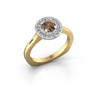 Foto van Ring Kanisha 1 585 goud bruine diamant 0.692 crt
