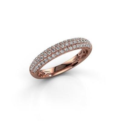 Foto van Ring Emely 2 375 rosé goud zirkonia 1.3 mm
