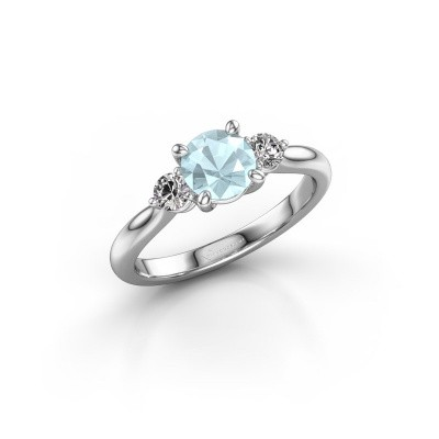 Picture of Engagement ring Lieselot RND 950 platinum aquamarine 6.5 mm
