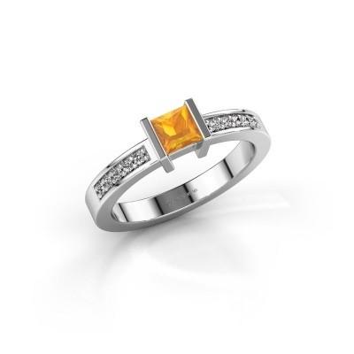Engagement ring Jordan 925 silver citrin 4 mm