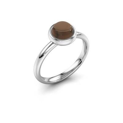Ring Blossom 925 zilver rookkwarts 6 mm