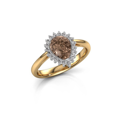 Foto van Verlovingsring Tilly per 1 585 goud bruine diamant 0.95 crt