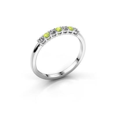 Foto van Verlovings ring Michelle 7 585 witgoud peridoot 2 mm