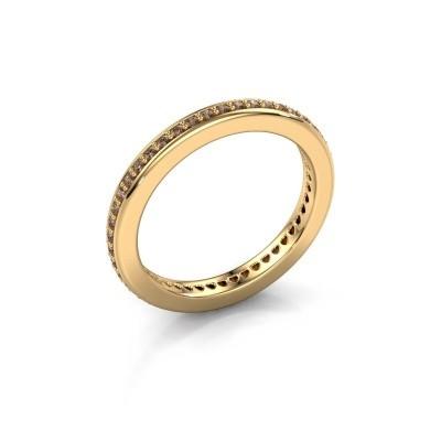 Aanschuifring Elvire 2 375 goud bruine diamant 0.345 crt
