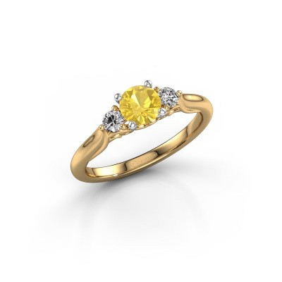 Foto van Verlovingsring Laurian RND 585 goud gele saffier 5 mm