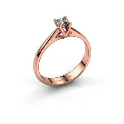 Verlobungsring Janna 1 375 Roségold Diamant 0.25 crt