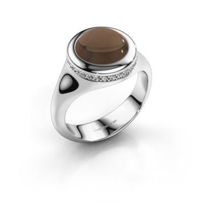 Foto van Ring Lesli RND 925 zilver rookkwarts 10 mm