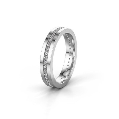 Trouwring WH0103L14BP 585 witgoud diamant 0.44 crt ±4x2 mm