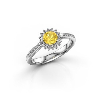 Picture of Engagement ring Tilly RND 2 925 silver yellow sapphire 5 mm