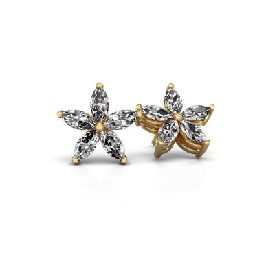 Oorstekers Sylvana 375 goud lab-grown diamant 1.40 crt
