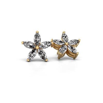Ohrsteckers Sylvana 375 Gold Lab-grown Diamant 1.40 crt