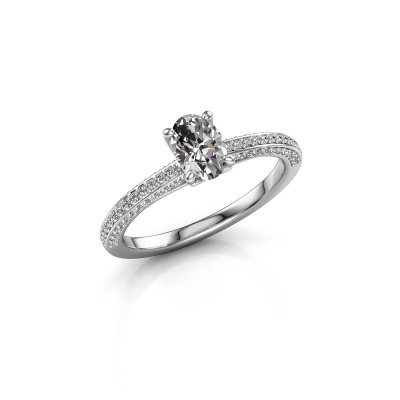 Picture of Engagement ring Elenore ovl 585 white gold diamond 0.65 crt