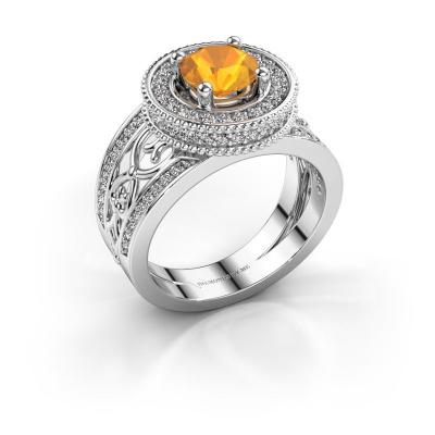 Ring Joy 585 witgoud citrien 6.5 mm