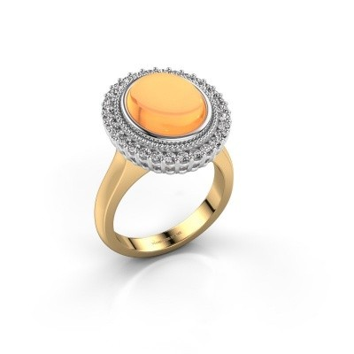 Picture of Ring Mila 585 gold citrin 12x10 mm