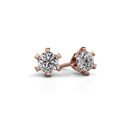 Foto van Oorstekers Shana 375 rosé goud diamant 0.30 crt