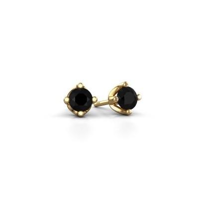 Foto van Oorknopjes Briana 375 goud zwarte diamant 0.24 crt