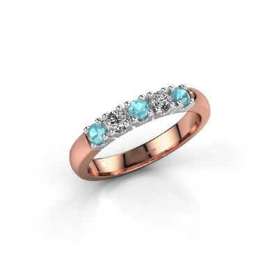 Picture of Ring Rianne 5 585 rose gold blue topaz 2.7 mm