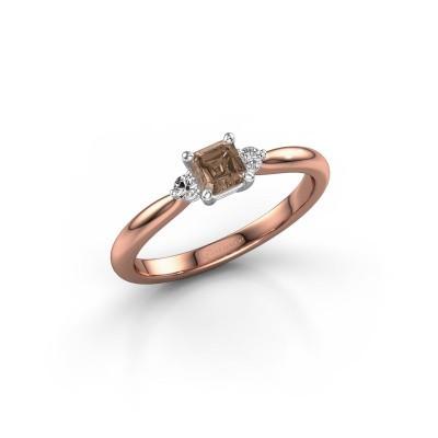 Foto van Verlovingsring Lieselot ASS 585 rosé goud bruine diamant 0.59 crt