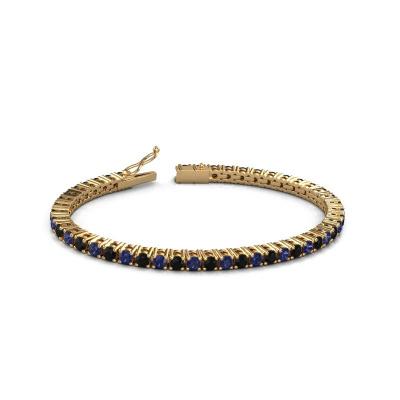 Picture of Tennis bracelet Karin 3.5 mm 375 gold black diamond 5.184 crt