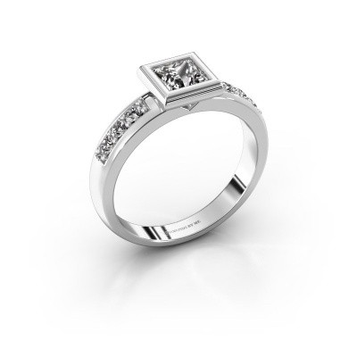Steckring Lieke Square 925 Silber Diamant 1.18 crt