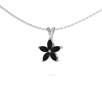 Picture of Necklace Sylvana 585 white gold black diamond 0.168 crt