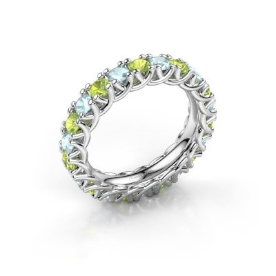 Ring Fenna 585 Weißgold Peridot 3 mm