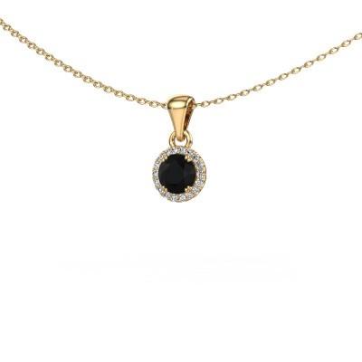 Anhänger Seline rnd 375 Gold Schwarz Diamant 0.560 crt