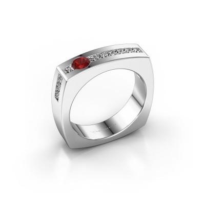 Foto van Mannen ring Arend 925 zilver robijn 3.8 mm