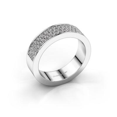 Ring Lindsey 4 585 witgoud zirkonia 1.3 mm