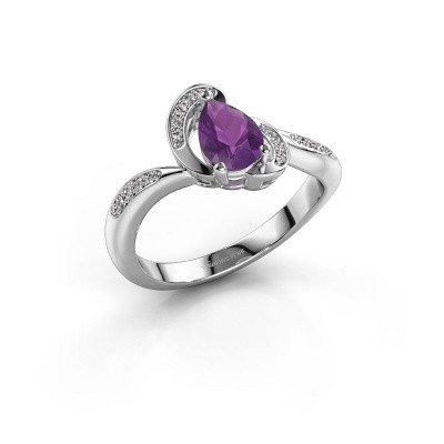 Picture of Ring Jonelle 585 white gold amethyst 7x5 mm