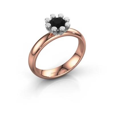 Stapelring Carola 1 585 rosé goud zwarte diamant 0.60 crt