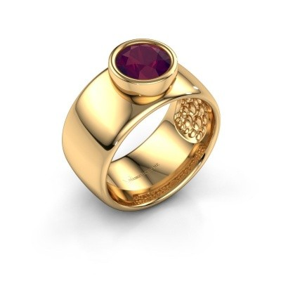 Ring Klarinda 585 gold rhodolite 7 mm