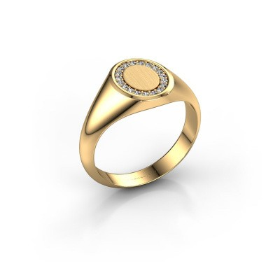 Picture of Signet ring Rosy Oval 1 585 gold lab-grown diamond 0.008 crt