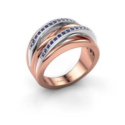 Foto van Ring Annabel 2 585 rosé goud saffier 1.2 mm