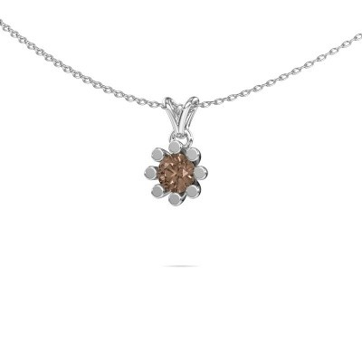 Foto van Hanger Carola 1 375 witgoud bruine diamant 0.50 crt