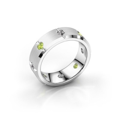 Men's ring Irwin 925 silver peridot 2.7 mm