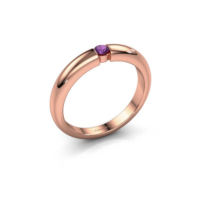 Picture of Engagement ring Amelia 585 rose gold amethyst 3 mm