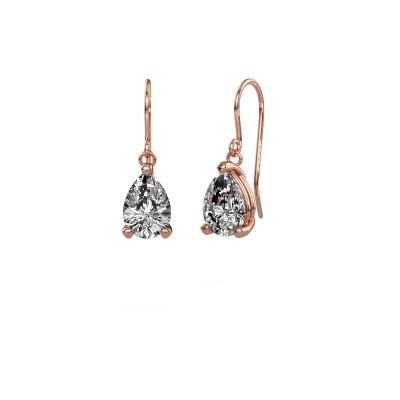Foto van Oorhangers Laurie 1 375 rosé goud diamant 0.95 crt